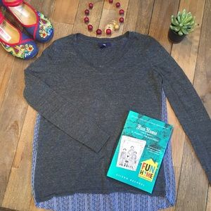 Gap lightweight sweater with silky patterned back